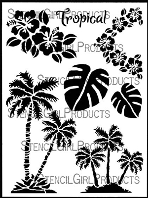 Tropical Twist Stencil June Pfaff Daley StencilGirl.jpg